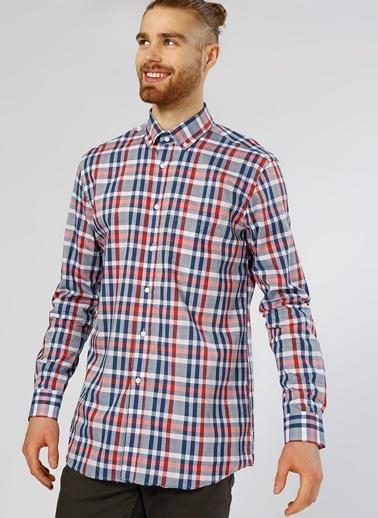 Cotton Bar Kareli Uzun Kollu Gömlek Lacivert